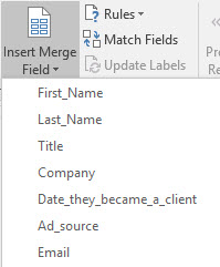 Outlook mail merge - personalize email messages: Chris